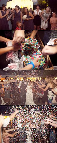 wedding confetti ... FUN! #DBBridalStyle