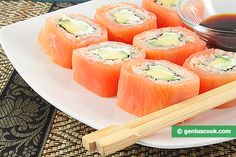 Philadelphia rolls are popular for a delicious mixture of salmon, avocado and cheese that go along well and taste tender.
