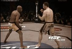 you have to click to see Spider - doing his thing.  #anderson #silva      He sees the world in the 0s & 1s, just like the Matrix code.