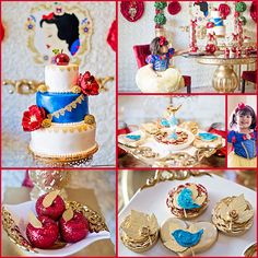 Snow White Inspired Party by Storybook Bliss | Cake by Heavenly Cakes N More | Candy Apples by Ronis Sugar Creations | Cake Stand by Opulent Treasures