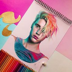 Justin Bieber By @sa.velasquez _ Check out our other page @arts.gallery