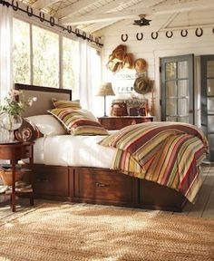 Real Life Inspiration: Equestrian Bedroom   Stylish Western Home Decorating