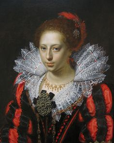 Portrait of a Young Lady by Paulus Moreelse, c. 1620