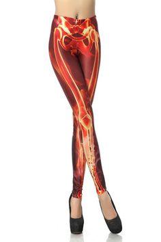 Fiery Bones Leggings