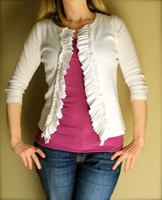 re-fashioning a shirt that has become too short--cute!