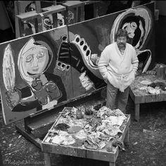 www.ompomhappy.com KAREL APPEL 1921 - 2006 a member of the COBRA group #art #artist #cobragroup #COBRA #artstudio #studio #rawart #karelappel #CandJuskus #OmPomHappy