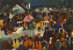 Szekler Market  by Vilmos Aba-Novák