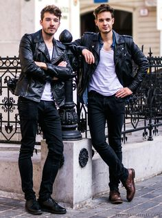 Jackets For Stylish Men. Jackets can be a vital component to every man's closet. Men will need outdoor jackets for assorted activities and several varying weather conditions. Men Looks, Leather Fashion, Leather Men, Leather Jackets, Black Leather, Biker Jackets, Biker Leather, Leather Trousers, Men's Jackets