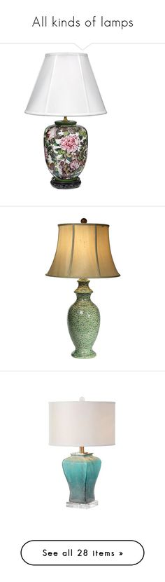 """""""All kinds of lamps"""" by gigisstyle ❤ liked on Polyvore featuring home, lighting, table lamps, porcelain table lamps, italian table lamps, italian porcelain lamps, porcelain lamps, italian lighting, lights and lamps"""