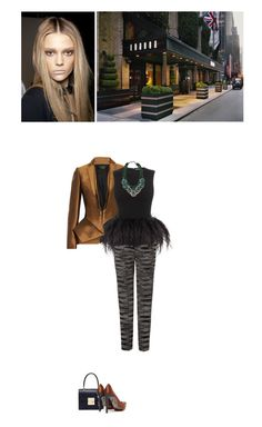 """""""Haider Ackermann Jacket & Alexander McQueen Top"""" by abigail-abigail ❤ liked on Polyvore"""