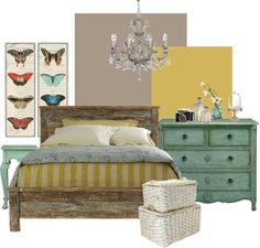 """Room Inspiration: Rustic Chic"" by madisyn on Polyvore"