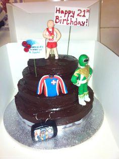 Birthday timeline cake