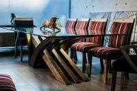 Mesas de comedor de vidrio - modelo A