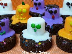 Ms. Fox's Sweets: Ghost & Monster Halloween Brownies