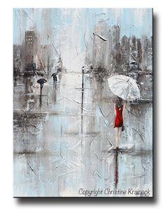 La mujer en rojo gran impresión de Giclee PRINT lona de niña de la pintura…