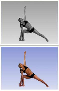 Trikanasana Triangle Pose - Bikram Yoga Bikram Yoga Poses, Hot Pilates, Dance Fitness Classes, Yoga Information, Yoga Books, Namaste Yoga, Physical Fitness, Yoga Fitness, Health Fitness