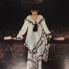 a Pierrot outfit by Angelo Tarlazzi, photographed by Guy Bourdin for Vogue Paris, October Guy Bourdin, Edward Weston, Magritte, Man Ray, French Fashion, Vintage Fashion, Vogue Paris, Makeup Inspiration, Editorial Fashion