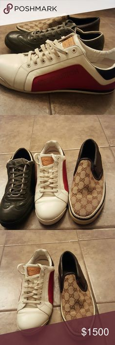 2f0723c26f3 Louis Vuitton and Gucci sneakers 9 and 8 1/2 In great condition. Posting