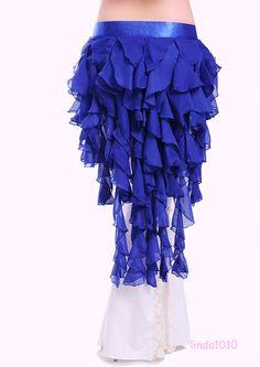 New Belly Dance Skirt Double Color Hip Wavy Skirt Fishtail Skirt//Dress 9 Colors
