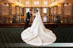Amazing 5 mtr train on beaded wedding dress