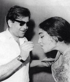 Raj Kapoor and Vyjanthimala