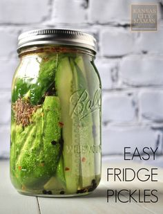 These are the BEST and EASIEST refrigerator pickles in the world....you will swear you are eating a Claussen! And the best part, no canning and they are ready to eat in under 24 hours via KansasCityMamas.com