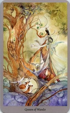 Queen of Wands from the Shadowscapes Tarot