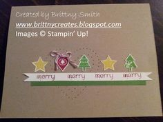 Merry Minis Christmas card created by Brittny Smith using Stampin' Up! supplies.  http://brittnysmith.stampinup.net