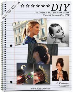 ::: OutsaPop Trashion ::: DIY fashion by Outi Pyy :::: DIY spike hair comb