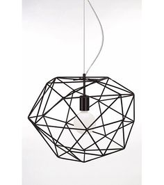 Globen Lighting Diamond Pendant: Lacquered metal bars have been shaped to create a dramatic diamond which casts interesting shadows across the room when lit. Drum Pendant, Globe Pendant, Lantern Pendant, Diamond Pendant, Pendant Lighting, Pendant Design, Metal Bar, Globe Lights, Diamond Pattern