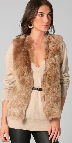 Club Monaco shearling vest