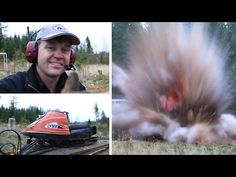 Exploding snowmobile (skoter) with swedish dynamite