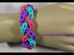 Loom Bands mit Rainbow Loom Anleitung Deutsch O