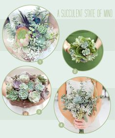 succulent flowers bouquets, so beautiful i almost can't handle it.