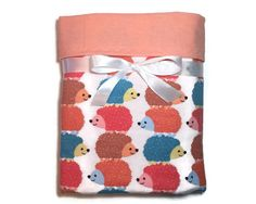 Flannel Baby Blanket - Receiving Blanket - Hedgehog Baby Blanket - Baby Boy Blanket - Baby Girl Blanket - Swaddle Blanket - Crib Blanket by BeastiesBabies on Etsy