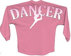 Allntrends Womens Boyfriend jersey Shirt Dancer Print Pom Pink Print M Pink * See this great product.Note:It is affiliate link to Amazon.
