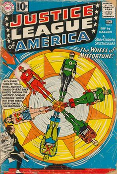 Justice League of America Vol. 1 #6 | Community Post: 30 Animated Comic Book Covers That Are Downright Hypnotizing
