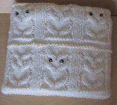 Baby owl blanket  Cream  36 X 36 92 cm X 92 cm  by BabyBoucyFeet, $69.00
