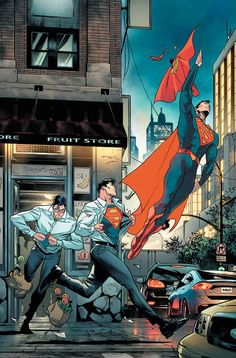 """""""This looks like a job for Superman!"""" (Superman Rebirth variant by Jorge Jiménez and Alejandro Sánchez) - comicbooks Comic Book Characters, Comic Character, Comic Books Art, Comic Art, Arte Dc Comics, Superman Comic, Superman Artwork, Superman Quotes, Superman Images"""