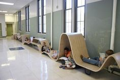 Fun seating for kids | Flying carpet...caves in the hall. | kids children space design interior environment
