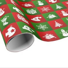 New Year pattern. Red Green White. 2018. Wrapping Paper - Xmas ChristmasEve Christmas Eve Christmas merry xmas family kids gifts holidays Santa