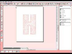 Making Patterned Letters - Silhouette Tutorial - very helpful!