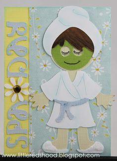 Cricut Everyday Paper Dolls - bath robe, spa day