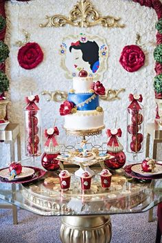 Snow White Inspired Party Birthday Party Ideas | Dessert Table