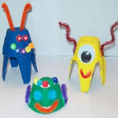 Recycle those old egg cartons into fun critters. There is no wrong way to make these wacky guys.