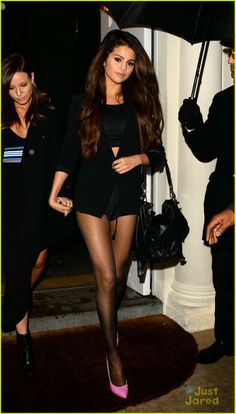 Selena Gomez leaving Sketch Restaurant in London, England