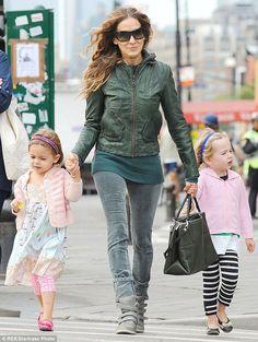 Sarah Jessica Parker as a mom! She's wonderful