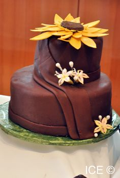 Cake Decorating Career a cake with orange flowers and butterflies | techniques and art of