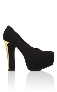 Genius. From the back it looks like a thin gold heel. Theyskens' Theory Evie Aved Pump $420