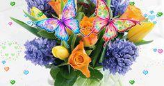 Χρόνια Πολλά Κινούμενες Εικόνες giortazo Floral Wreath, Wreaths, Plants, Jewelry, Home Decor, Jewlery, Decoration Home, Bijoux, Room Decor